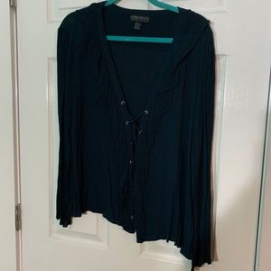 F21 Lace Up Shirt